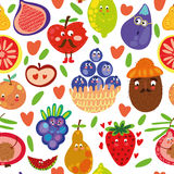 Fruits seamless pattern for your design Royalty Free Stock Photos