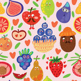 Fruits seamless pattern for your design. Seamless pattern can be used for wallpaper, pattern fills, web page backgrounds, surface textures Royalty Free Stock Images