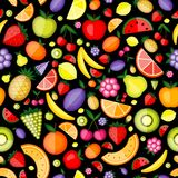 Fruits seamless pattern for your design Stock Photography