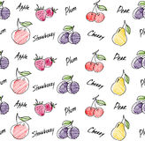 Fruits seamless pattern for your design. Stock Photo