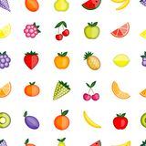 Fruits seamless pattern for your design Royalty Free Stock Image
