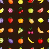 Fruits seamless pattern for your design Stock Photo