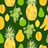 fruits. Seamless vector pattern Stock Photo