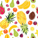 Fruits. Seamless vector pattern Stock Photography