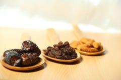 Fruits secs délicieux Images stock