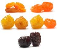 fruits secs différents de ramassage Image stock