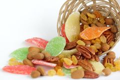 Fruits secs et noix Image libre de droits