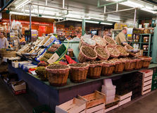 Fruits and Seeds in Saint Joseph Market Barcelona Royalty Free Stock Image