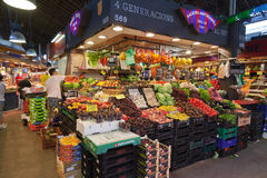 Fruits and Seeds in Saint Joseph Market Barcelona Royalty Free Stock Photo