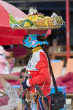 Fruits seller working on the beach of Koh Rong in Cambodia Stock Images