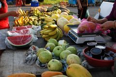 Fruits selling at the market Royalty Free Stock Photo