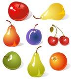 Fruits set Stock Images