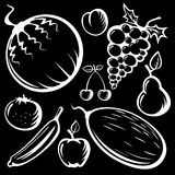 Fruits set Stock Images