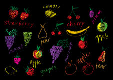 Fruits set Royalty Free Stock Photos