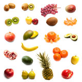 Fruits in the set. On a white background Royalty Free Stock Images