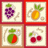 Fruits. set cards Royalty Free Stock Photo