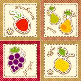 Fruits. set cards Royalty Free Stock Photos