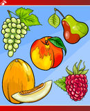 Fruits set cartoon illustration Royalty Free Stock Image