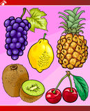 Fruits set cartoon illustration Stock Photo