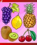 Fruits set cartoon illustration Stock Photo