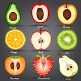 Fruits set Stock Photography