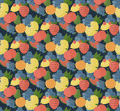 Fruits set pattern. Catroon style Royalty Free Stock Photo
