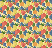 Fruits set pattern. Catroon style Stock Photography