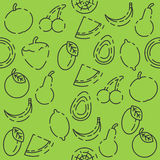 Fruits set pattern. Colored fruits pattern for your design. Vector illustration, EPS 10 Royalty Free Stock Photography