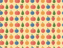 Fruits set pattern Royalty Free Stock Photography