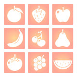 Fruits shape vector icon Stock Photography