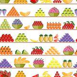 Fruits on shelves, seamless pattern for your Royalty Free Stock Photography