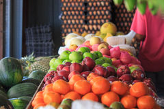 Fruits shop colorful. Fruits were sell in shop, Thai fruit so delicious Royalty Free Stock Photo