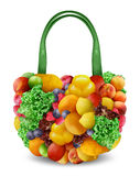Fruits shopping bag Stock Photos