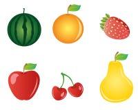 Fruits. Six kinds of fruits you like Stock Photography