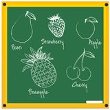 Fruits sketch Royalty Free Stock Photos