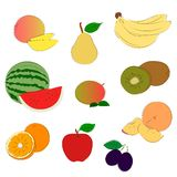 Fruits sketchy icons Royalty Free Stock Photo