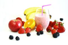 Fruits and smoothie royalty free stock photo