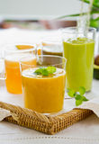 Fruits smoothie [ Mango,Avocado,Melon,Dragon fruit Stock Photo