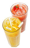Fruits Smoothies. Fruits and Berries Smoothies Isolated on White Background stock photo