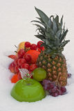 Fruits on the snow Royalty Free Stock Images