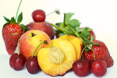 Fruits. Some fresh fruits with white background Royalty Free Stock Images