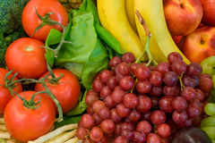Fruits and Some Veggies. This is a close-up of vegetables and fruits Stock Photos