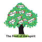 Fruits of the Spirit. Galatians chapter 5 vector illustration