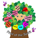 Fruits of the Spirit. With tree and fairy Stock Photography