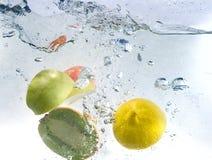 Fruits splash Royalty Free Stock Photography