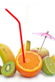 Fruits&splashes Royalty Free Stock Photos