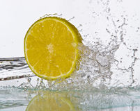 Fruits&splashes Stock Photography
