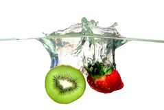 Fruits splashing Stock Photo