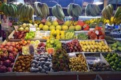 Fruits stall at Banzaan Market in Patong. Banzaan Market is a covered market in Patong, Phuket, Thailand Stock Photos