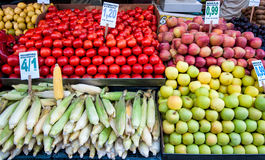 Fruits stall in Istandbul Royalty Free Stock Images